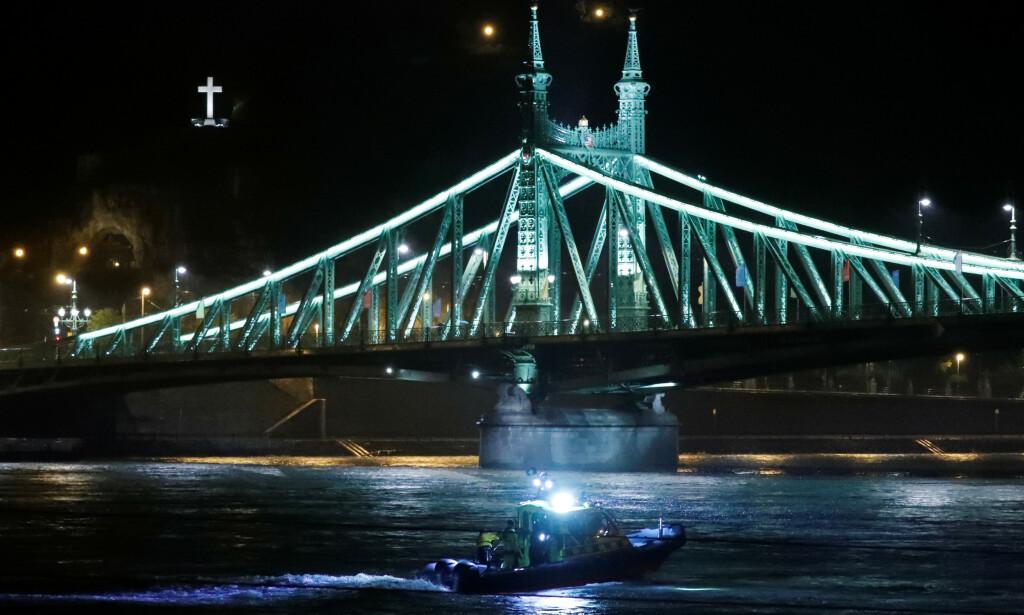 SØKER ETTER SAVNEDE: På Donau. Foto: Reuters