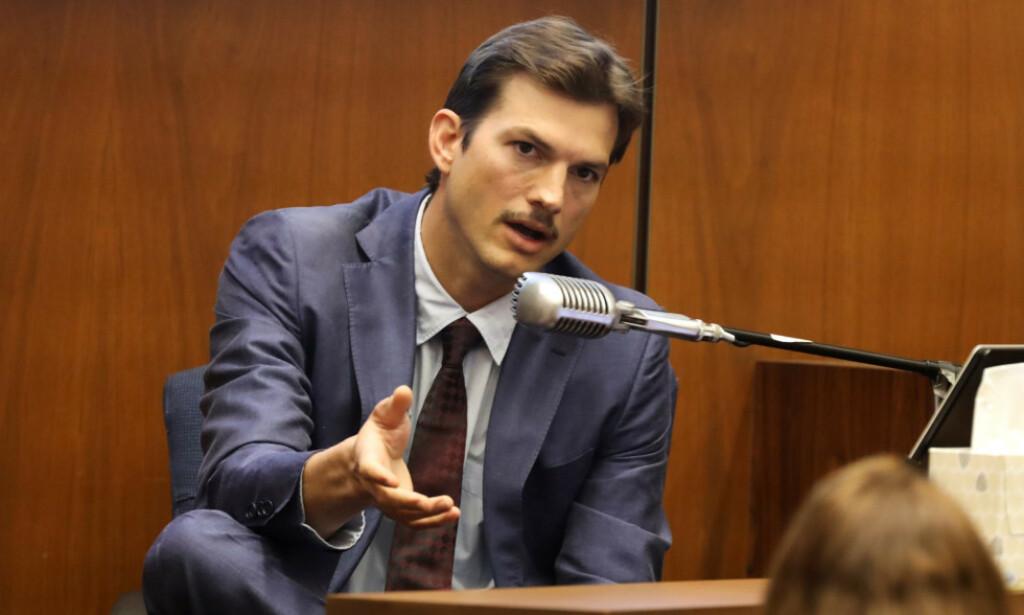VITNET I DRAPSSAK: Hollywood-stjernen Asthon Kutcher vitnet onsdag i rettsaken mot drapsmistenkte Michael Gargiulo. Dagen da drapet fant sted skulle 41-åringen på date med drapsofferet Ashley Ellerin. Foto: NTB scanpix