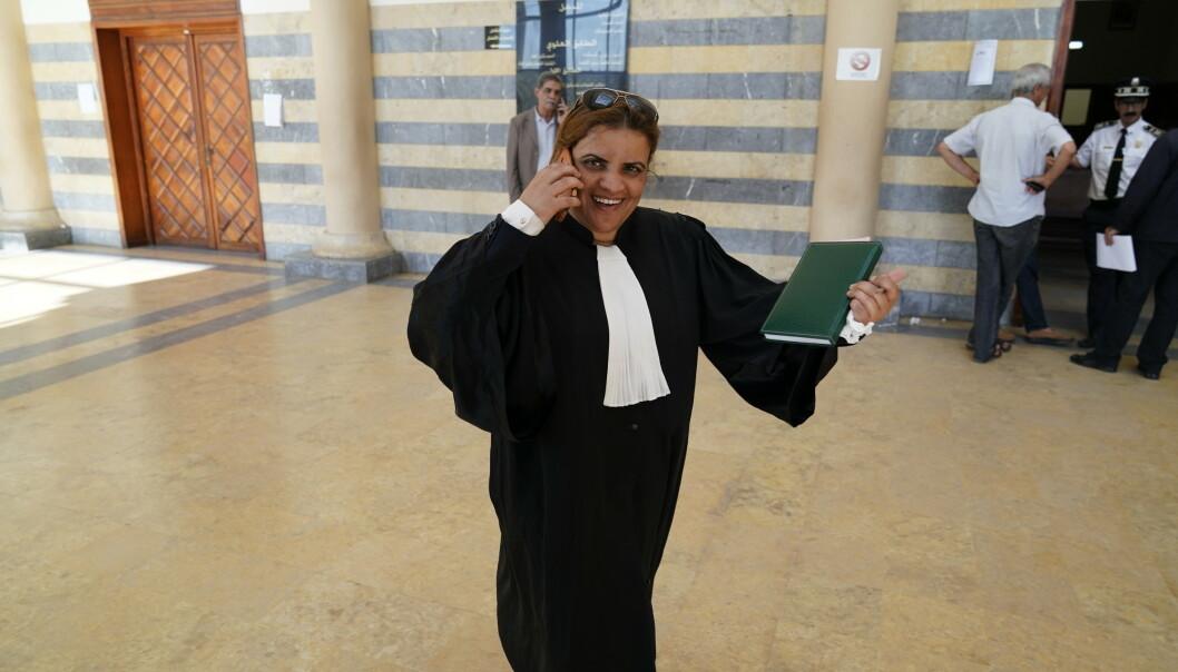 ADVOKAT: Hasida Maksaoui, de fire hovedtiltalte mennene sin advokat. Foto: John T. Pedersen / Dagbladet