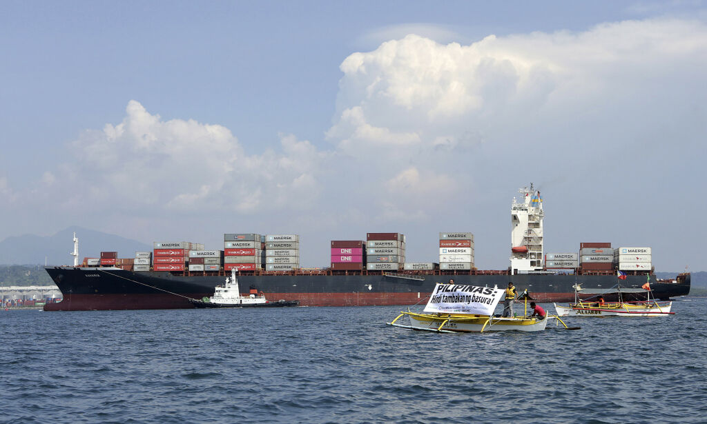 image: Filippinene sender 69 konteinere med søppel til Canada