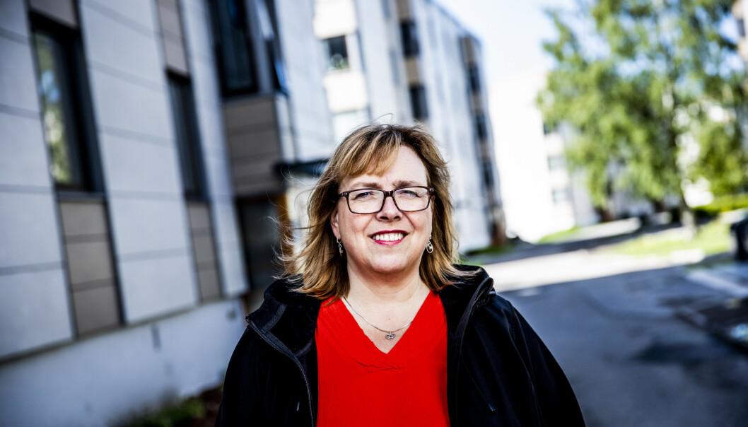 <strong>UNDERRAPPORTERING:</strong> Fylkesleder Line Orlund mener det er flere årsaker til at de ansatte i eldreomsorgen lar vær å melde feil og avvik. Foto: Christian Roth Christensen / Dagbladet