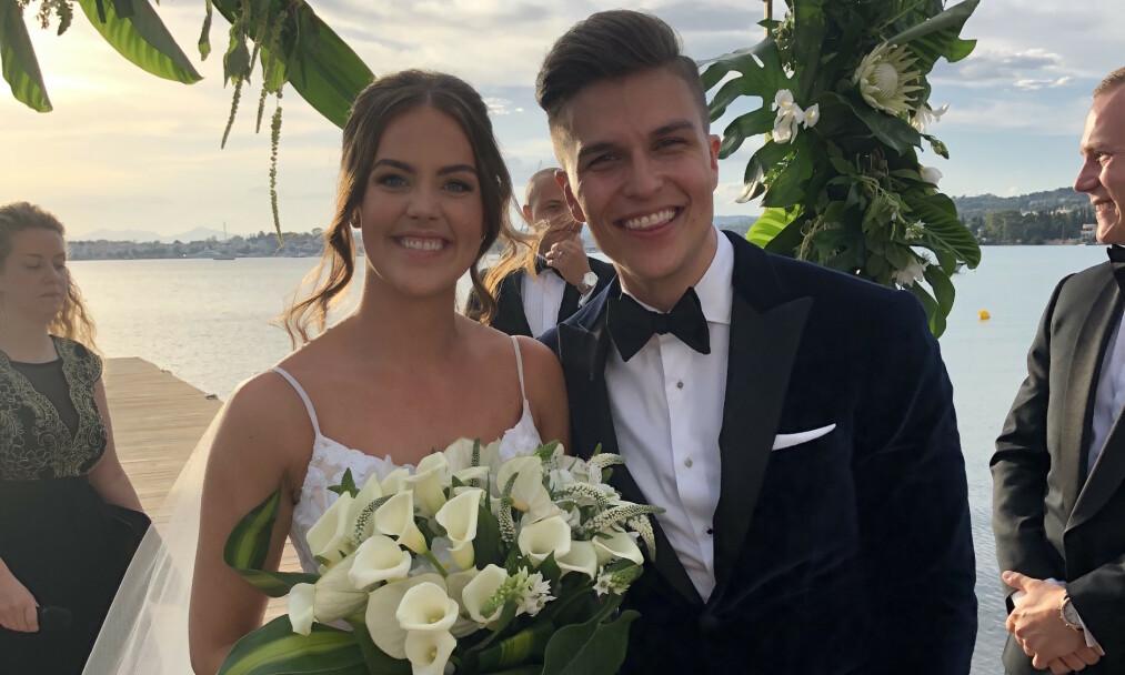 GIFT: Atle Pettersen og Cathrine Eide er blitt mann og kone. Foto: Lars Gautneb
