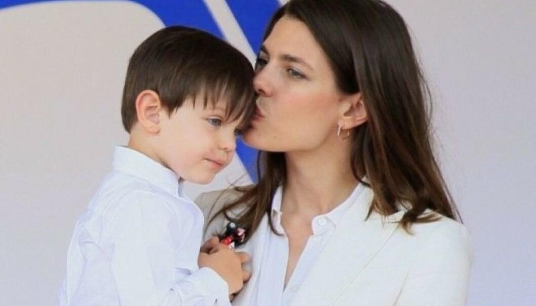 TOBARNSMAMMA: Charlotte har sønnen Räphael fra et tidligere forhold, og i oktober 2018 fikk hun sin andre sønn med Dimitri. Foto: NTB scanpix
