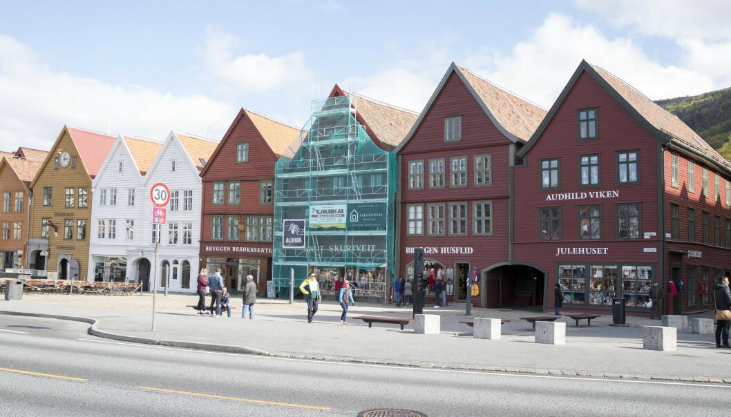 Bryggen i Bergen er et kjent landemerke. Foto: Terje Pedersen / NTB scanpix