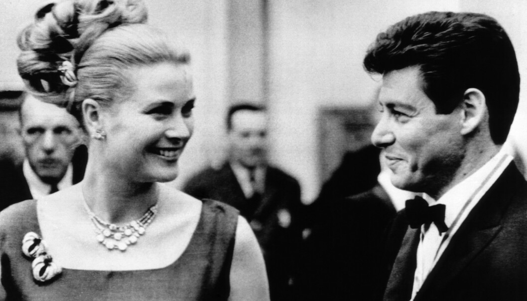 ARVEGODS: Grace Kelly fikk diamantsmykket fra Cartier i bryllupsgave i 1956. Her avbildet i 1963. Foto: NTB Scanpix