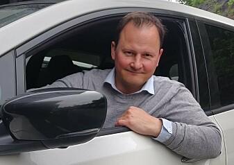 EN PROSENT: Knut Arne Marcussen opplevde at laderne på Oslo Lufthavn sluttet å lade bilen under et utenlandsopphold. Foto: Privat