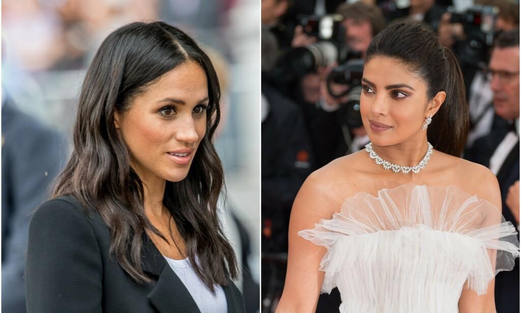 REAGERER: Skuespiller Priyanka Chopra synes det er trist å se hvordan venninnen hertuginne Meghan omtales, og tar henne nå i forsvar. Foto: NTB scanpix