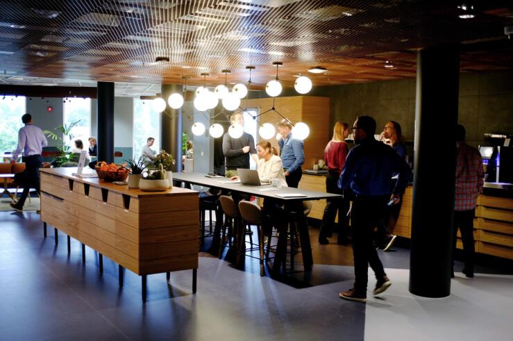 Microsoft Norge opptar nå flere etasjer i Dronning Eufemias gate 71 i Oslo. 📸: Ole Petter Baugerød Stokke