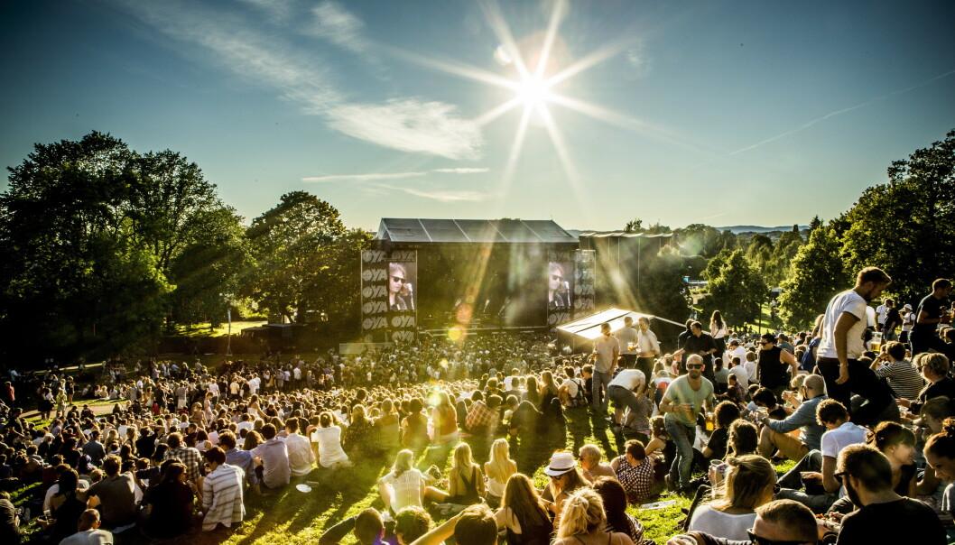 SOL, ØL OG MUSIKK: Festivalstemning slik mange kjenner den, her fra Øyafestivalen. Foto: Christian Roth Christensen / Dagbladet