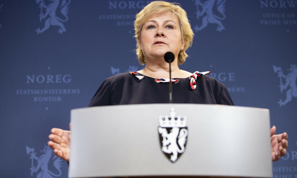 Statsminister Erna Solberg ba Stortinget om å utsette behandlingen av to bompengesaker, ifølge Dagens Næringsliv. Foto: Tore Meek / NTB scanpix