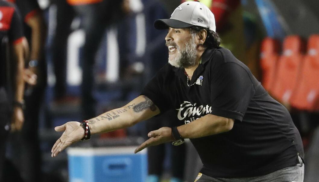 Diego Maradona har meninger om Manchester United. Foto: Eduardo Verdugo / AP / NTB scanpix