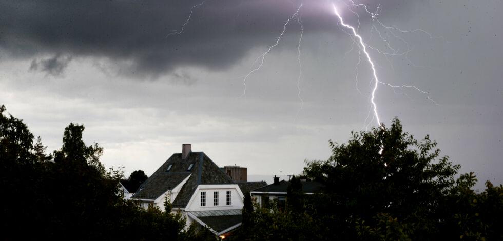 image: Elektronisk utstyr kan bli skadet uten at lynet slår ned hos deg