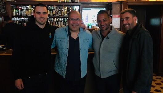 NYE SAMARBEIDSPARTNERE: Tim Simpson (t.v.), David Garcia, Audie Attar og partner Kilay Reinfeld har startet et nytt samarbeidsprosjekt om MMA-utøvere i Skandinavia. Foto: privat