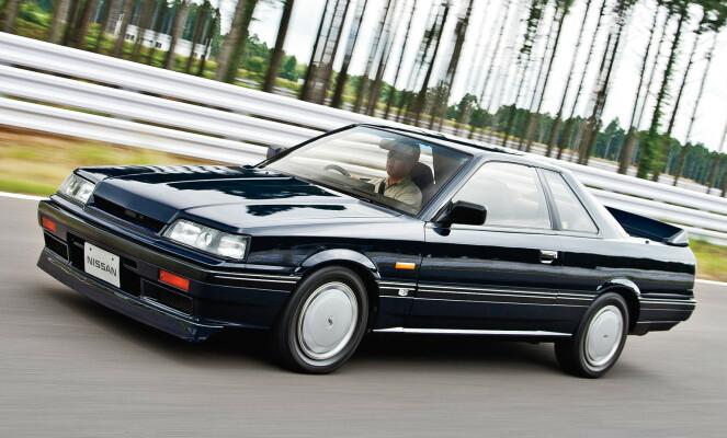 <strong>FØRSTE MODERNE:</strong> Skyline R31 var bilgjengelig både i sedan, hardtop sedan, coupe stasjonsvogn. Foto: Nissan