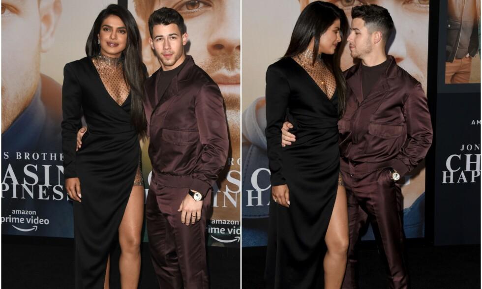 NYGIFTE: Priyanka Chopra og Nick Jonas giftet seg i desember - fem måneder etter at artisten gikk ned på kne. Foto: NTB Scanpix