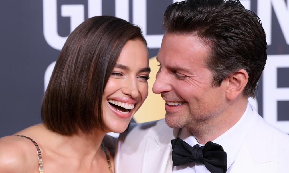 BRUDD: Irina Shayk og Bradley Cooper har bestemt seg for å avslutte forholdet, ifølge People. Her avbildet i januar. Foto: NTB Scanpix