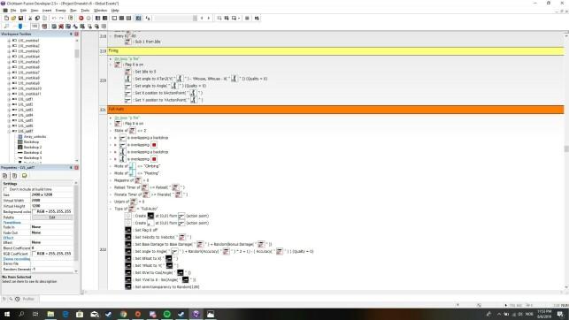 Slik ser det ut når Tobias Edvardsen jobber på Rushaug - Project Emerald i Fusion 2.5.