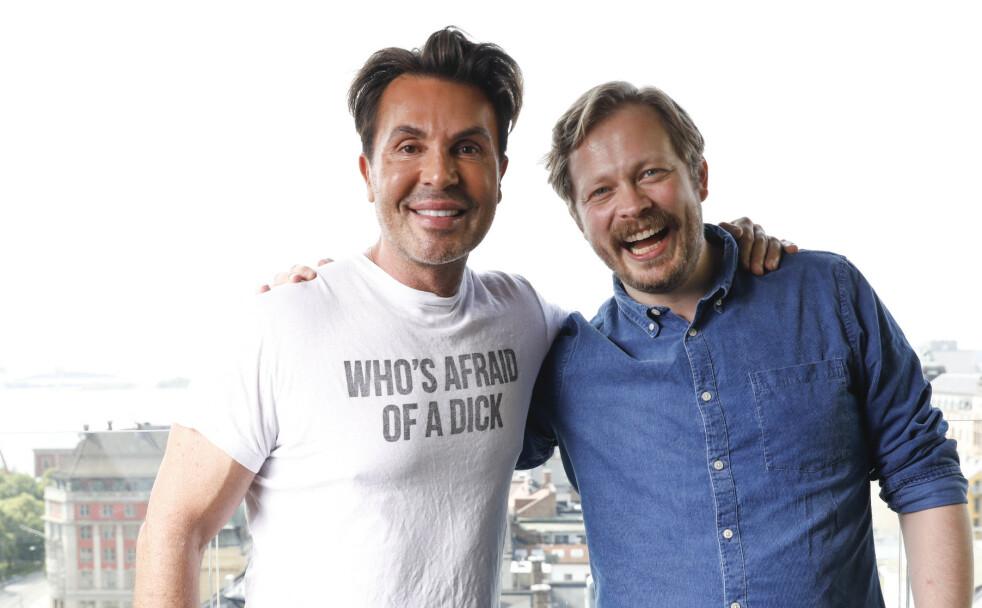 <strong>GODE VENNER:</strong> Jan Thomas og Einar Tørnquist skal lage TV ut av podkasten «Jan Thomas og Einar blir venner». Den sendes på Dplay til høsten. FOTO: NTB Scanpix
