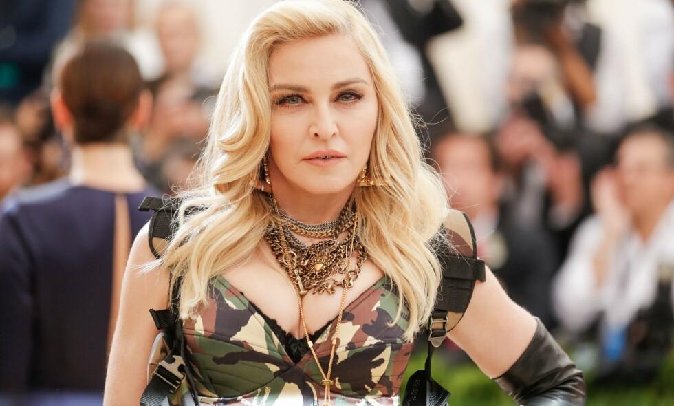 MISFORNØYD: Madonna er ikke fornøyd med hvordan portrettintervjuet hennes i New York Times ble seende ut. Her er hun på den celebre MET-gallaen i New York i 2017. Foto: BFA/REX/ NTB scanpix