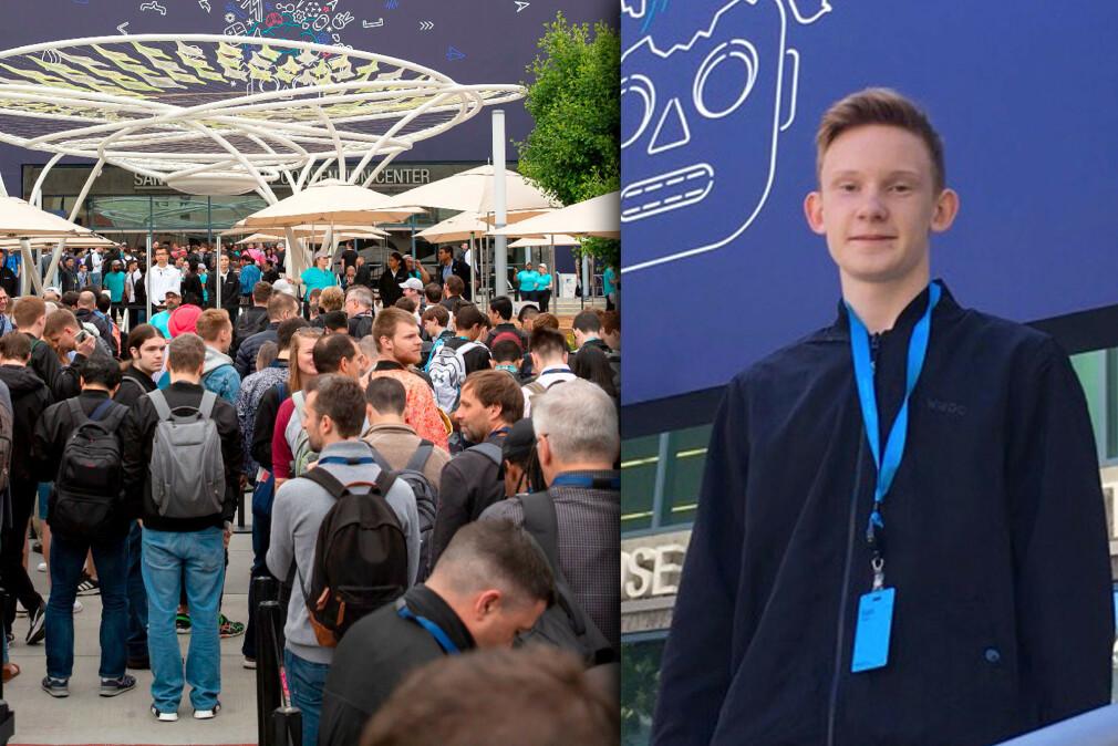 Eskil Gjerde Sviggum vant et stipend fra Apple som ga han gratis inngang til WWDC19-messa og opphold hele uka. 📸: NTB Scanpix / privat