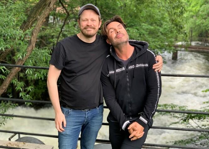<strong>HAR FUNNET HVERANDRE:</strong> Det er ingen tvil om at Einar Tørquist og Jan Thomas har etablert et nært vennskap - til tross for ulikheter. Til høsten blir vi bedre kjent med den på TV-skjermen. FOTO: TVNorge