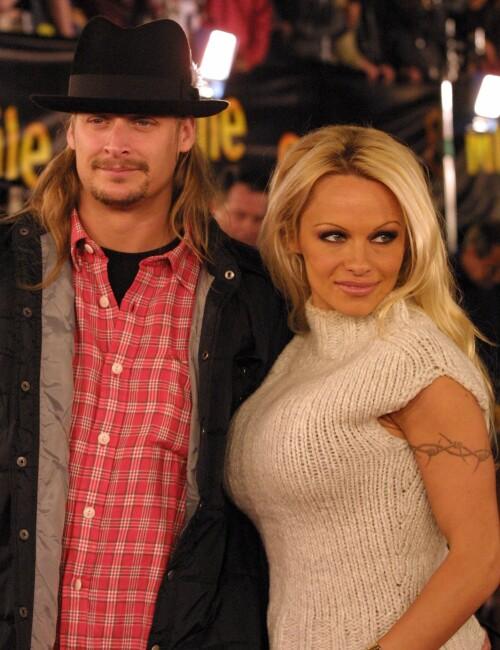 SKILTE SEG: Kid Rock og Pamela Anderson skilte seg i 2006, etter bare fire måneder som mann og kone. Foto: NTB Scanpix