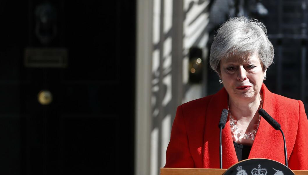Theresa May har gått av som partileder