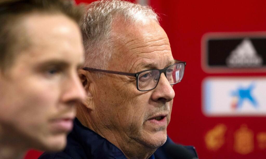 SKUFFET: Lars Lägerback. Foto: Jose Jordan / AFP
