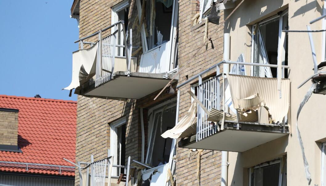 Det er et mirakel at ingen ble alvorlig skadd, mener eksperter. Eksplosjonen i Linköping er en av de kraftigste i Sverige på 20 år. Foto: Jeppe Gustafsson / TT / NTB scanpix