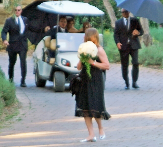 GIFTEKLARE: Her ser man paret på bryllupsdagen. Foto: Splash news/NTB Scanpix