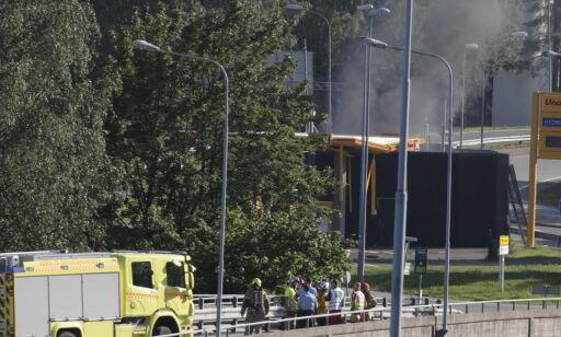 image: Hydrogentank eksploderte på bensinstasjon i Sandvika