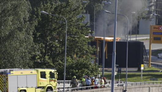 Hydrogentank eksploderte på bensinstasjon i Sandvika
