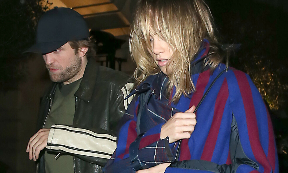 MEDIESKY: I løpet av det siste året har Robert Pattinson og Suki Waterhouse innledet et forhold som de ifølge amerikanske medier prøver å holde utenfor offentlighetens søkelys. Her er de avbildet etter en date på Chiltern Firehouse i London i oktober i fjor. Foto: NTB Scanpix