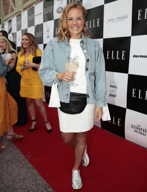 <strong>STORT SMIL:</strong> Helene Olafsen stilte på Elle festen for aller første gang. Foto: NTB Scanpix