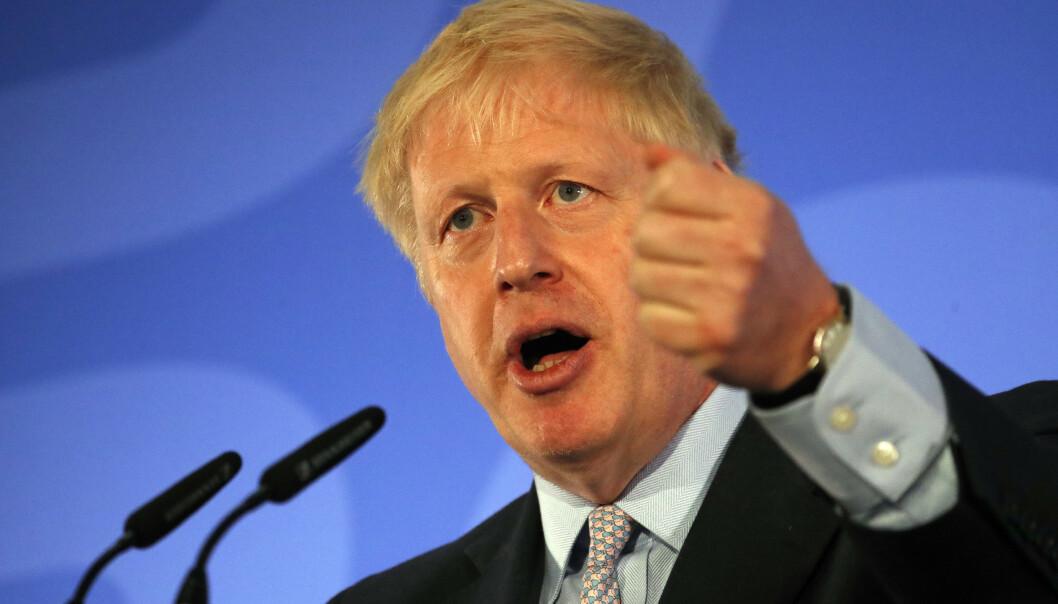 Boris Johnson holdt onsdag den offisielle åpningen av sin kampanje for å bli valgt som ny konservativ partileder i Storbritannia. Foto: Frank Augstein / AP / NTB scanpix