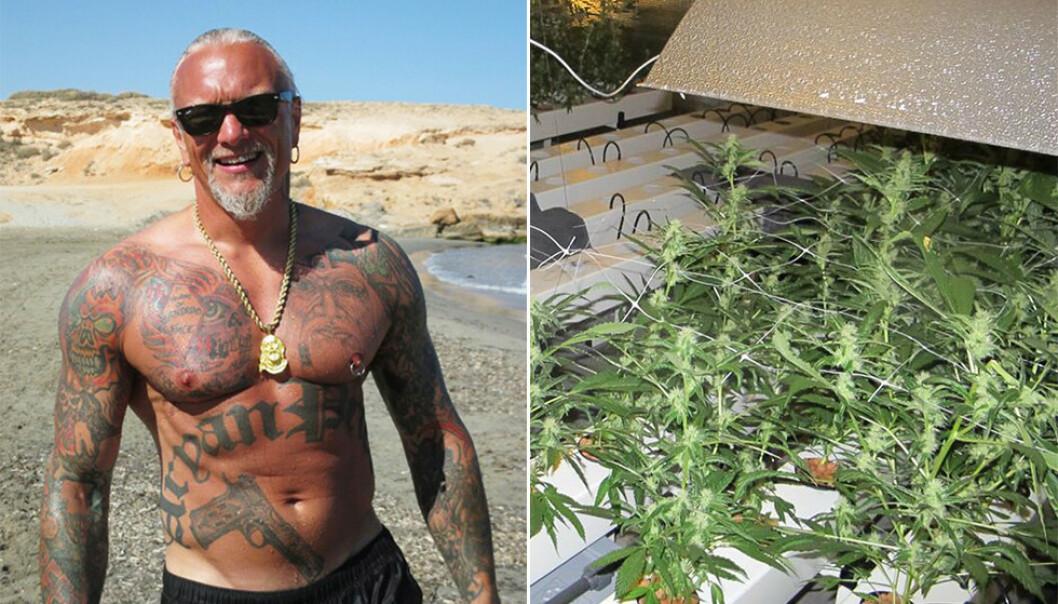 TILTALT: Lars Harnes er som en av fire tiltalt i saken hvor politiet fant en cannabisplantasje i Fet. Foto: Privat / Politiet