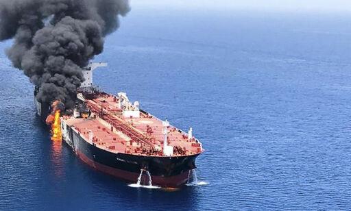 image: Bekrefter eksplosjon om bord norsk tankskip i Omanbukta