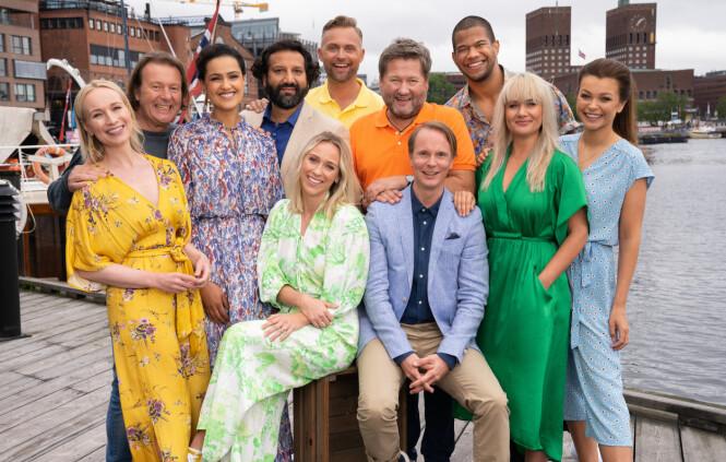 TV-GJENG: Dette er årets programledere i «God Sommer Norge». Foto: Espen Solli / TV 2
