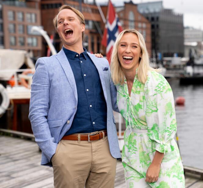 PROGRAMLEDERDEBUT: Mens Katarina Flatland kan regnes som veteran i programlederrollen blir dette første gang for Petter Pilgaard. Foto: Espen Solli / TV 2