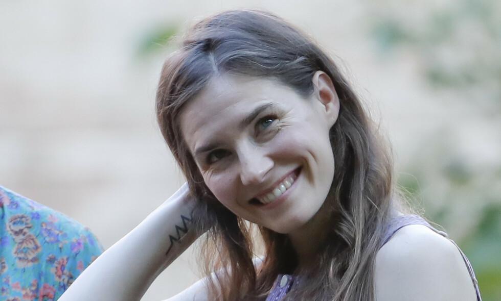 FRIKJENT: Etter å ha blitt dømt for drapet på den britiske studenten Meredith Kercher, ble Amanda Knox i 2015 frikjent. Denne uken var hun tilbake i Italia for første gang. Foto: NTB Scanpix