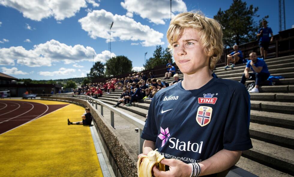 STORTALENT: Edvard Sandvik Tagseth, her i 2016 under en talentsamling i Porsgunn, ble raskt utropt som «Den nye Martin Ødegaard». Foto: John T.Pedersen / Dagbladet