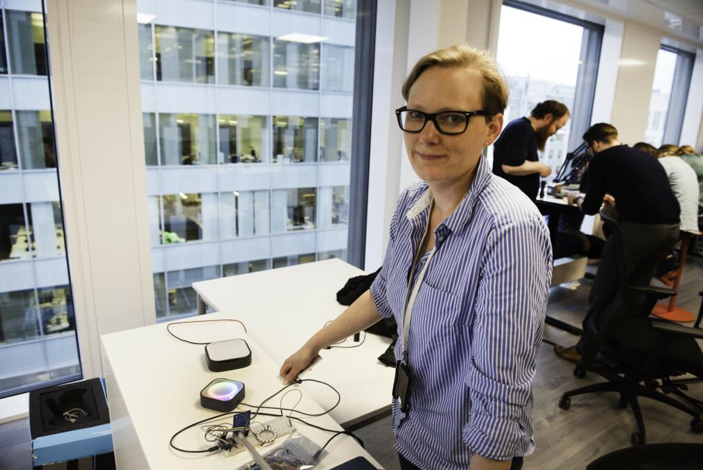 Hanne Johnsen jobber som utvikler i Bouvet, men har den siste tida utviklet et bongsystem for Oslo Pride som frivillig. 📸: Privat