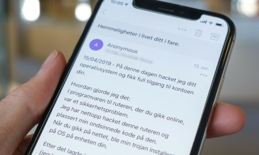 BARE SVINDEL: Nok en gang har det dukket opp en pornosvindel som forsøker å lure nordmenn til å betale flere tusen kroner. Foto: Martin Kynningsrud Størbu