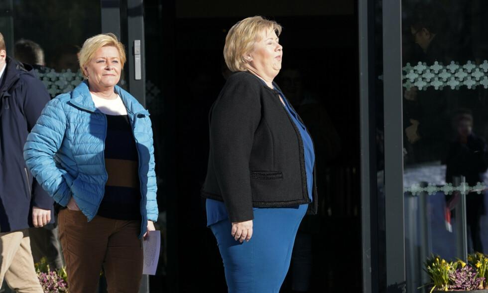 GAVEPAKKE: Asylfeltet har vært en gyllen gavepakke fra statsminister Erna Solberg til Fremskrittspartiet, skriver innsenderen. Foto: Cornelius Poppe / NTB scanpix