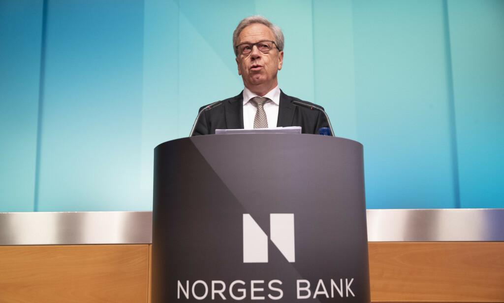 Sentralbanksjef Øystein Olsen kommer torsdag etter alt å dømme til å varsle høyere styringsrente. Foto: Berit Roald / NTB scanpix