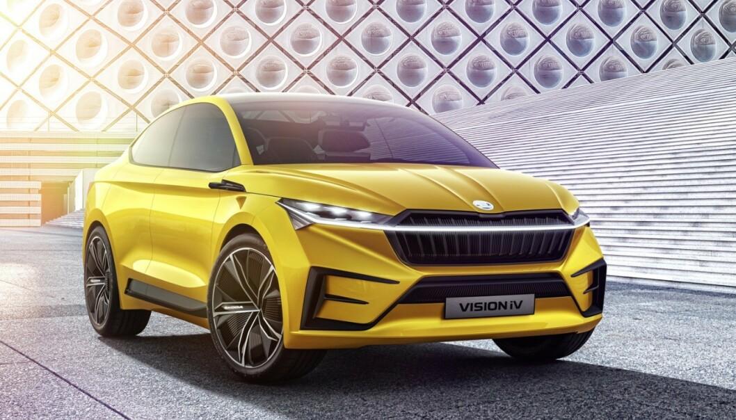 KØLISTER: Fra i dag kan du sette deg på liste for å bestille den nye elektriske familiebilen fra ŠKODA. Foto: ŠKODA