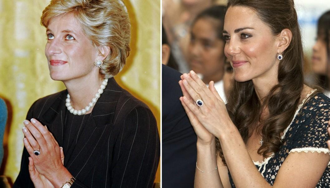 <strong>SYMBOLSK:</strong> Prins William ga Kate sin avdøde mors forlovelsesring, da han gikk ned på kne. FOTO: NTB Scanpix