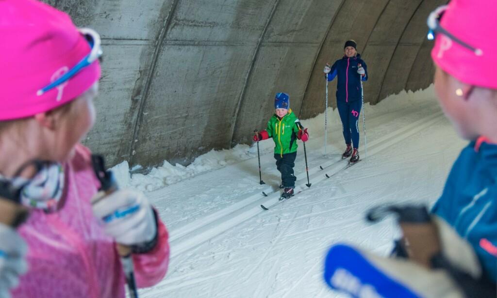 SOMMER OG ... SKI: I Torsby Skidtunnel & Sportcenter er det bra føre hele året. Foto: Tom Lindström