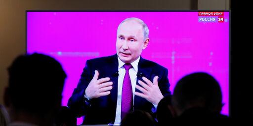 image: Putin møtte kritiske spørsmål
