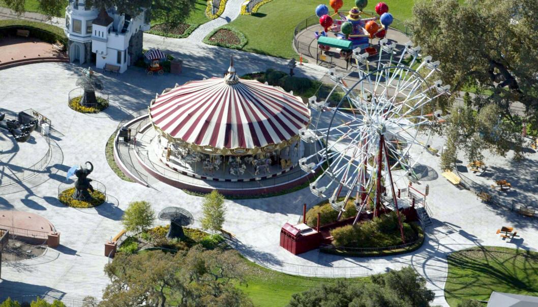<strong>KAN DET GJENSKAPES?:</strong> Pariserhjul og karuseller fra ranchen har blitt solgt til andre tivolier. Foto: Stuart Cook/REX/NTB Scanpix